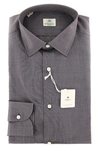 new-luigi-borrelli-brown-solid-extra-slim-shirt
