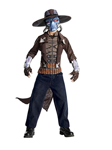 Star Wars The Clone Wars, Child's Deluxe Costume And Mask, Cad Bane Costume, Large (12-14)
