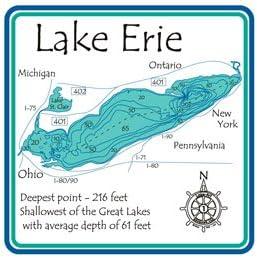 lake erie maps depths Amazon Com Lake Erie 3d Laser Carved Depth Map Great Gl 24 lake erie maps depths