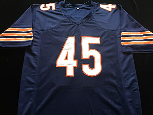 bcf78b70db9 Gary Fencik Chicago Bears Signed Autograph Blue Jersey JSA COA at Amazon's  Sports Collectibles Store