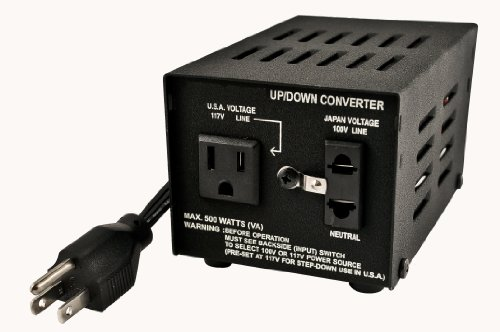 VCT VT-500J - Japanese Step Up/Down Voltage Transformer 500 Watt. Converts Japan AC 100V - 110V/120V and Vice Versa