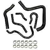 Silicone Radiator Hose Kit Fit 92-00 Honda Civic Type-R EK4 EK9 B16A BA6B Black