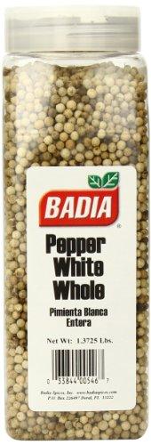 Badia White Pepper Whole, 1.3725 Pound by Badia