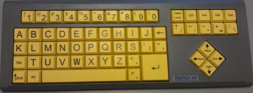 BigKeys LX ABC Large Print USB Keyboard - Yellow Keys with B