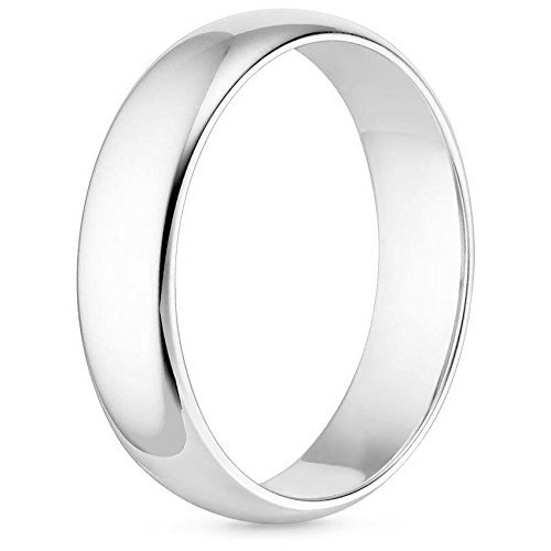 MCS Jewelry 14 Karat Gold Men's and Women's Plain Wedding Band Ring 8MM Comfort-Fit Light (white-gold, 10) by MCS Jewelry (Image #2)