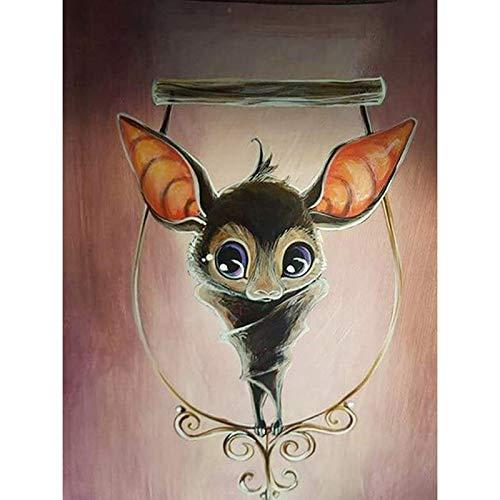 Diy Diamond Painting Kits - Halloween Bat?5D Full Drill Rhinestone Animals Painting Art Craft For Home Decoration(Frameless) -