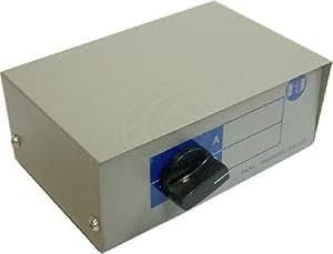 Cablematic - Conmutador manual de DB25 hembra de 2 puertos