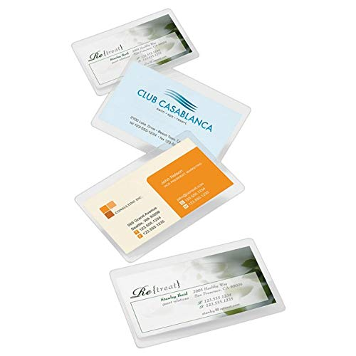(Office Depot Brand Laminating Pouches, Business Card Size, 5 Mil, 2.56