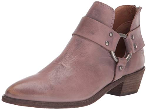 (FRYE Women's RAY Harness Back Zip Ankle Boot, Lilac, 8 M US)
