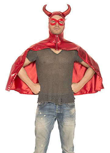 Music Legs Men's Devil Cape, Red, One Size (Sexy Devil Halloween Costumes)