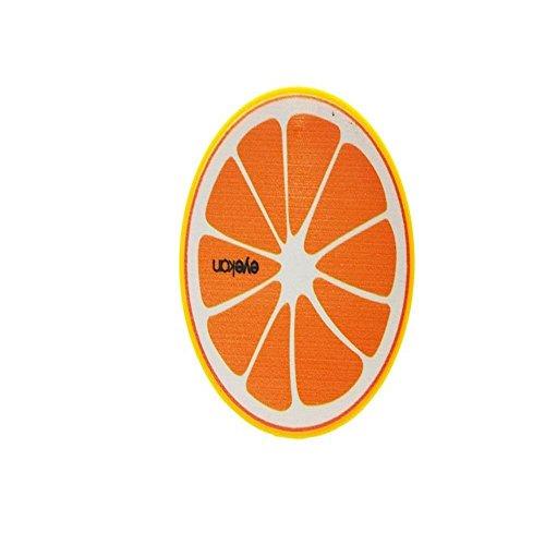 GEOOT New Cute Fruit Print Contact Lens Mate Box with Mirror (Orange) (Orange Contact Lenses)