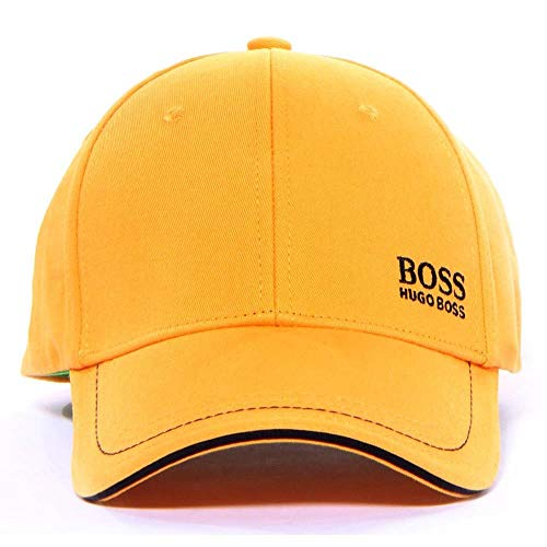 (Hugo Boss Cap-1 Yellow Cotton Strapback Baseball Cap Hat (One Size Fits Most) )