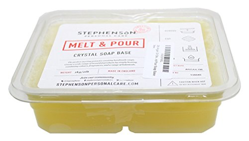 Stephenson Argan Oil Melt and Pour Vegetable Glycerin Soap Base, 2 lb