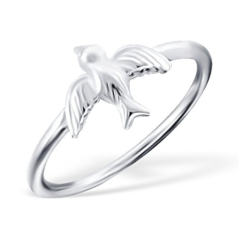 Liara Bird Plain Ring Sterling Silver 925 Polished And Nickel Free