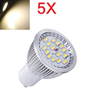 5X GU10 6.4W Warm White SMD 5630 LED Spot Light Bulb AC 85-265V