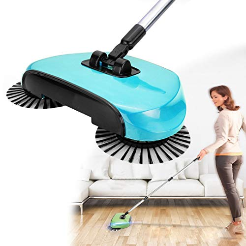 YFLY Spin Sweeper 3 in 1 Floor Sweeping Brush Broom Mop Household Cleaning Mops Tool Convenient (Hurricane Spin Broom As Seen On Tv)