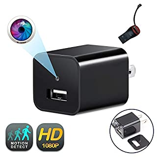 USB Wall Charger Camera | GEAGLE 1080P HD USB Wall Charger Hidden Spy Camera/Nanny Spy Camera Adapter | External Memory | Motion Detection