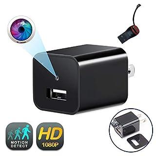 USB Wall Charger Camera | GEAGLE 1080P HD USB Wall Charger Hidden Spy Camera/Nanny Spy Camera Adapter | External Memory | Motion Detection