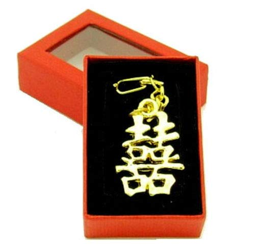 - Feng Shui Double Happiness Amulet Keychain