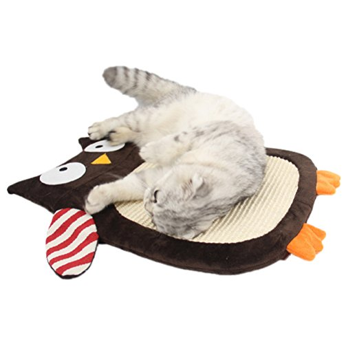 PET SHOW Cat Toys Scratch Mat Sisal Pad Scratcher Board Post Rest Sofa Scratch Pads for Small Large cats Owl Pack of 1 Review