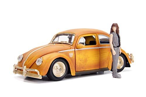 Jada Toys Transformers Bumblebee Volkswagen Beetle Die-cast Car, 1:24 Scale Vehicle & 2.75