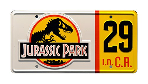 - Celebrity Machines Jurassic Park | Jeep #29 | Metal Stamped License Plate