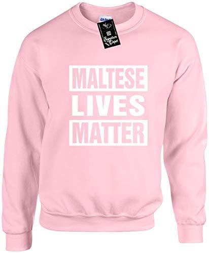 Unisex Funny Crewneck 3X (Maltese Lives Matter (Dog) Sweatshirt