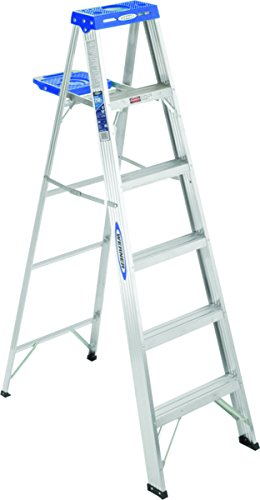 Werner 366 250-Pound Duty Rating Aluminum Stepladder, 6-Foot by Werner