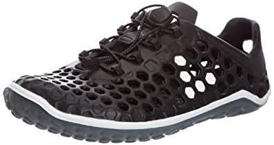 Vivobarefoot Mens Ultra Pure Water Shoes, Black/White/Grey, 41 EU / 8 US