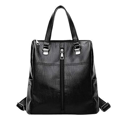 Vintage Girl Leather School Bag Backpack - ()