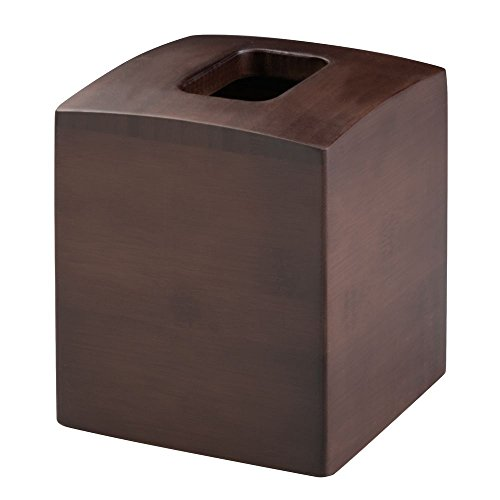 InterDesign Formbu Bath Collection, Facial Tissue Box Holder – Decorative Box Cover for Bathroom, Bedroom or Office, Espresso by InterDesign