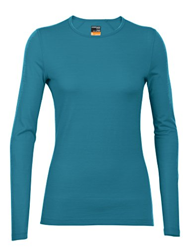 Icebreaker Merino Women's Oasis Long Sleeve Crewe Align Print Top, Alpine, Medium