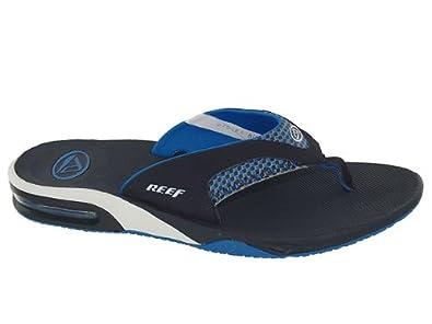 32ca90e7617e Reef Fanning Blue Flip Flops