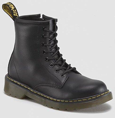 Dr. Martens Delaney Boot,Black Softy T,2 UK(3 M US Little Kid) (Combat Child Boots)