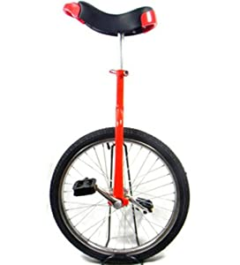Rot 20 Einrad mit Chrom-Rad (Red Unicycle)