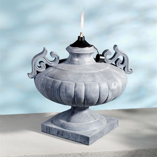 Touch of Class Apollonia Urn Oil Lamp Gray