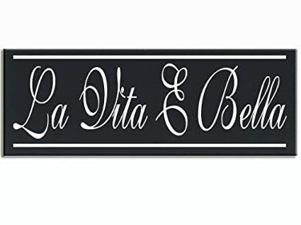 La Vita E Bella Italian Word for Life Is Beautiful Wood Handpainted 16\