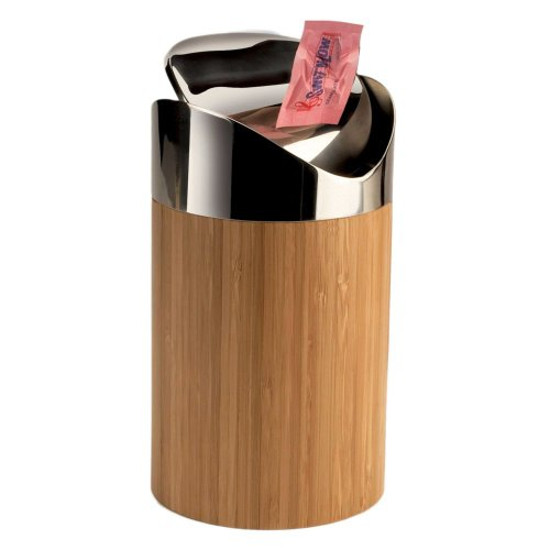 Cal-Mil 1717-60 Bamboo Counter Trash Bin from Cal Mil