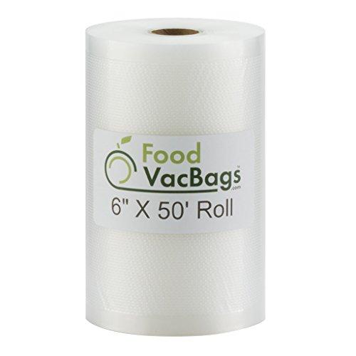 6-Inch X 50-Ft Roll Vacuum Food Sealer Bags Embossed 4 mil C