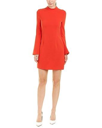 ae7e2cd9c75 Amazon.com  Rachel Zoe Women s Bell-Sleeve Mock Neck Dress