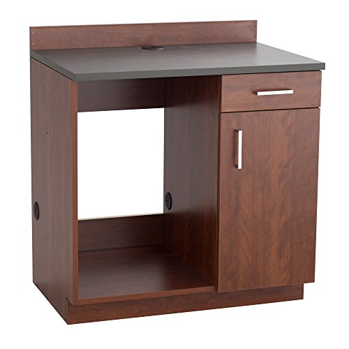 Safco Products 1705MH Modular Hospitality Breakroom Base Cabinet Appliance Mahogany Base/Rustic Slate Top