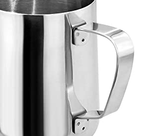 New Star Foodservice 28805 Commercial Grade Stainless Steel 18/8 Frothing Pitcher, 12-Ounce from New Star Foodservice Inc.