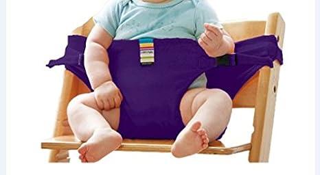 La chaise haute portable lavable de voyage Chaise bébé avec sangles Harnais  de sécurité pour tout 93527b0350a