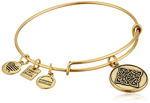 Alex and Ani Charity By Design Celtic Knot Rafaelian Gold Bangle (Mens Celtic Knot)