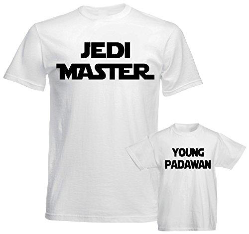 Father Daddy Daughter Dad Son Matching T Shirts Star War Jedi Master Padawan ()