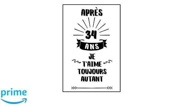 Anniversaire De Mariage Carnet De Notes Idée Cadeau 34 Ans