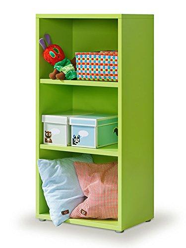 Cultmöbel Regal grün, Bücherregal, 2 EB, Click-System, werkzeuglose Montage