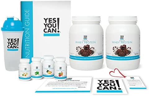 Yes You Can! Transform Kit: Food Lover 60 Servings, Twice a Day, Contains: Two Complete Whey Protein Choco-Brownie, One Slim Down, One Appetite Support, One Collagen, One Colon Optimizer, One Shaker