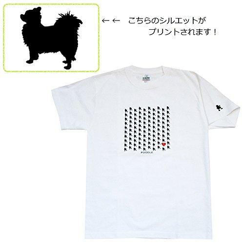 ルーフ化石もっと少なくザ?ブラックラブカンパニー BLC 100Dogs Tシャツ / チワワ(ロング) / レディースMサイズ / 白 / 犬グッズ専門店 オリジナル