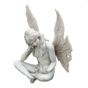 Amazoncom Design Toscano The Secret Garden Gazing Fairy Statue